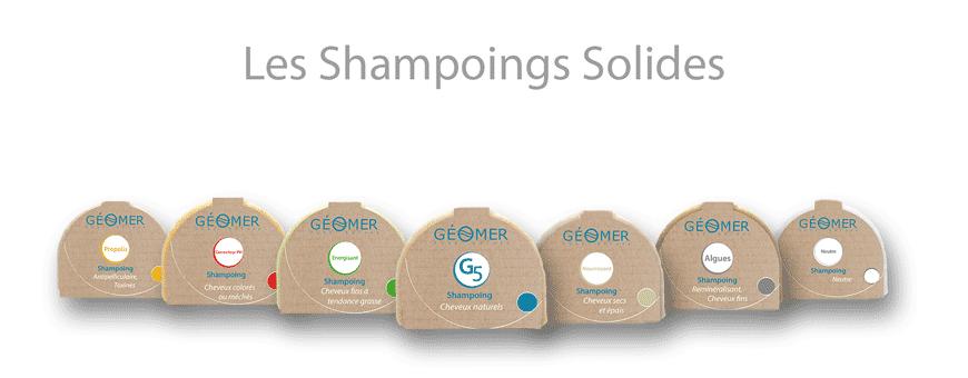 Solid shampoos