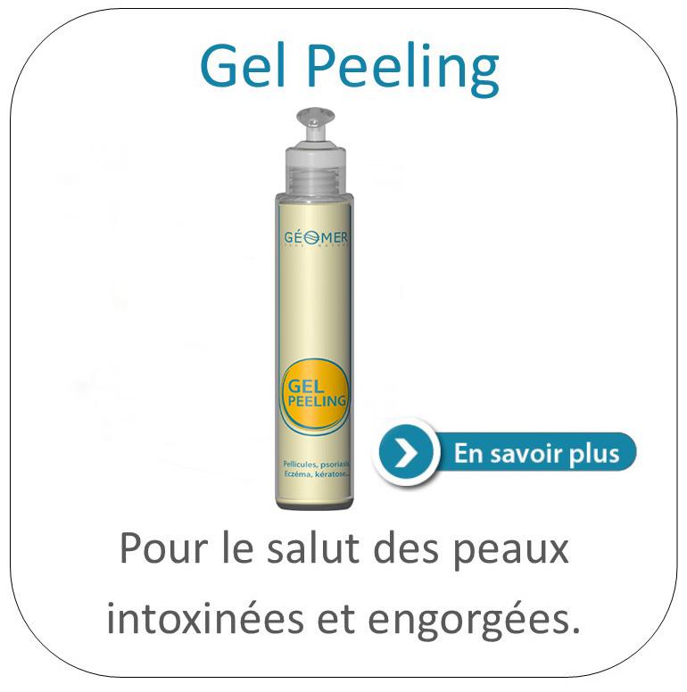 Gel Peeling dermo purifiant assainit l'eczéma et le psoriasis